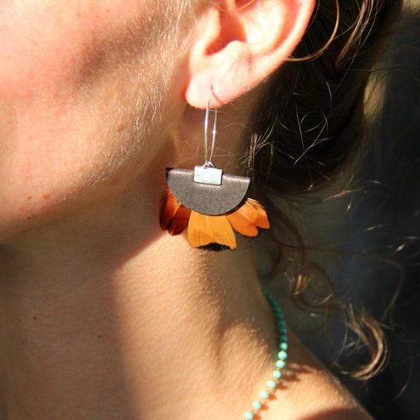 boucle d'oreilles Bavedda Castagna