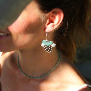 boucles d'oreilles lavezzi verde
