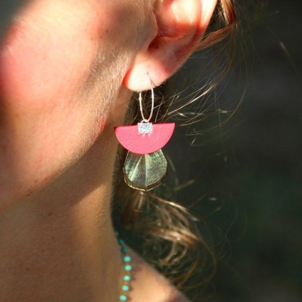 boucles d'oreilles u spidali rossu