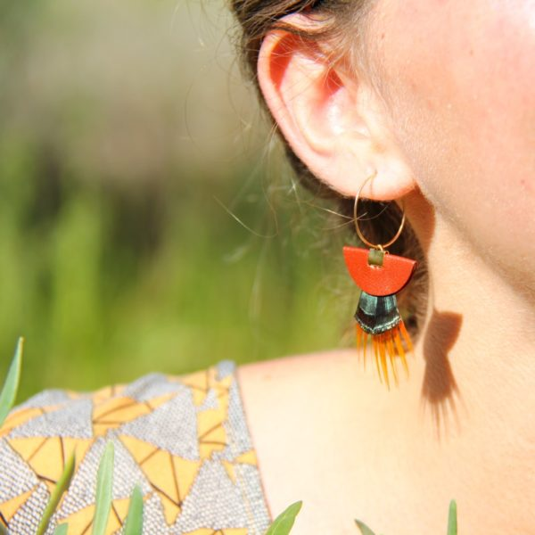 boucle d'oreilles u spidali aranciu