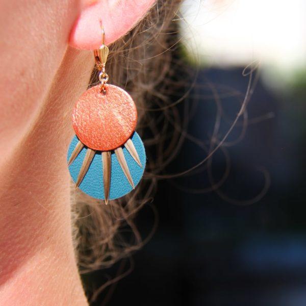 Boucle d'oreille ronde