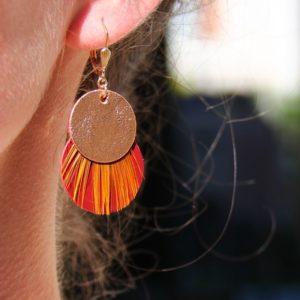 Boucles d'oreilles dormeuse ronde