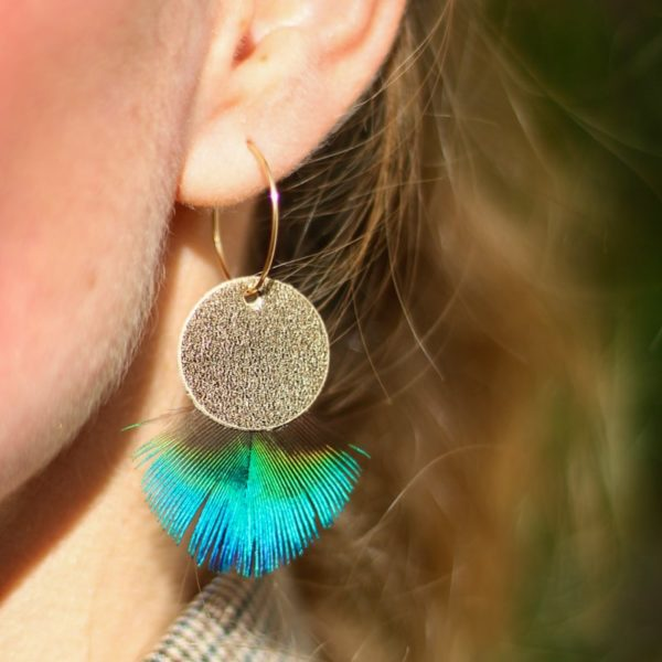 Boucle plume paon